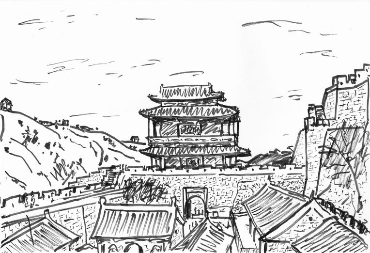 北京 長城 居庸關 城堡