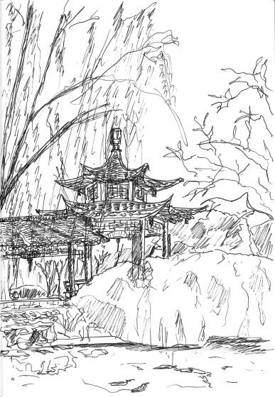 揚州 個園 Pavillion