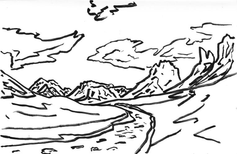 Torres del Paine Valle del Frances Impression 2