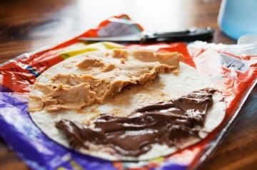 2018.12.19 8 Peanut Butter Nutella Tortilla