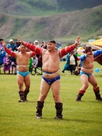 Хархорин Наадам Wrestlers Presenting