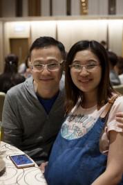 何兆傑 and Wife