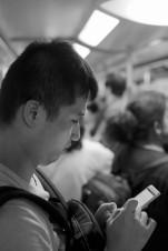 地鐵 Young Man on Phone