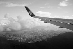 Mongolian Air over Hong Kong
