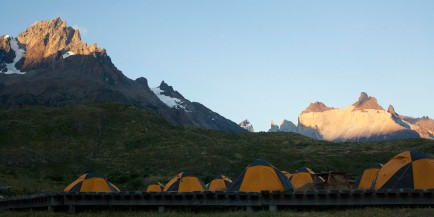 Refugio Paine Tents Sunset