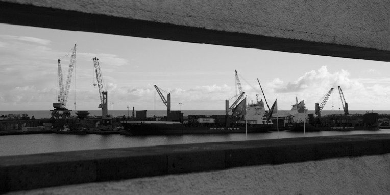 São Miguel Ponta Delgada Dock Framed