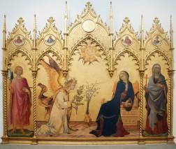 Annunciation with St. Margaret and St. Ansanus - Simone Martini e Lippo Memmi