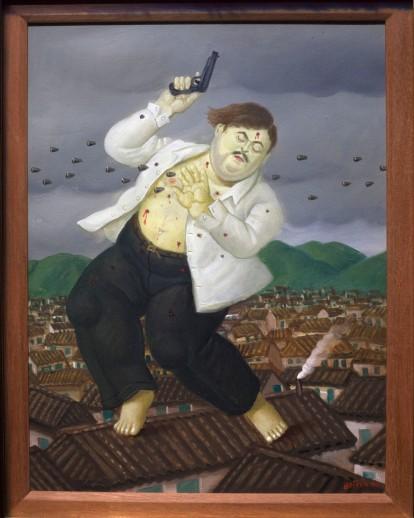 Death of Escobar - Botero