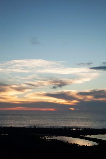 鯨魚洞日落