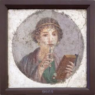 Sappho Fresco from Pompeii