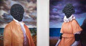 Titus Kaphar - Billy Lee & Ona Judge, Portrait in Tar