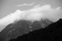 Ushba in clouds