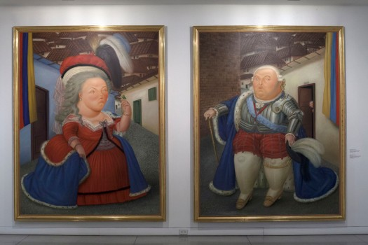 Visit of Louis XIV and Marie Antoinette - Botero