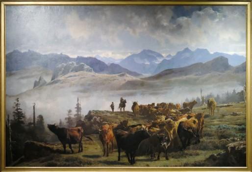 Auguste Bonheur - Rencontre des Deux Troupeaux dans les Pyrénées 1861