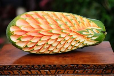 Papaya with Lovebug