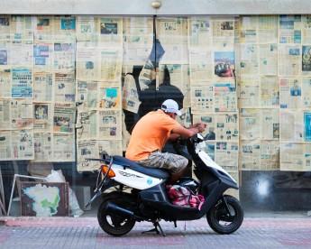 Santo Domingo Orange Biker