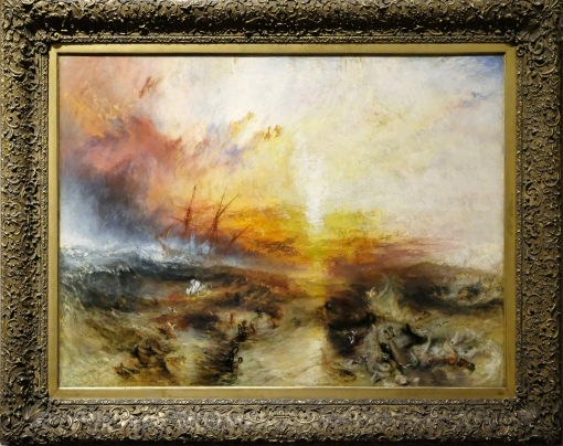 111 Slave Ship (Slavers Throwing Overboard the Dead and Dying, Typhoon Comin On), Joseph Mallord William Turner 1