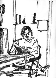 Green Sketchbook 10