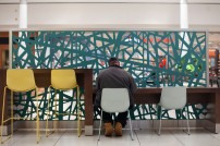 Man in Food Court