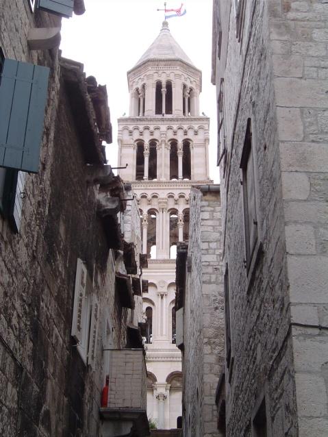 Dicoletian's Palace - Basilica through the alley