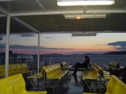 Panoramic Sunset through Deck
